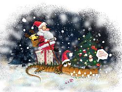圣诞老人的鳄鱼座驾