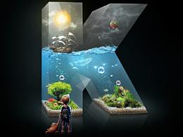 Aquarium-壁纸合成作品,献给大家,希望喜欢。