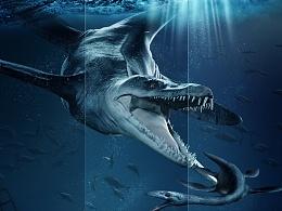 10月份临摹的一张卓松的海报(侏罗纪公园)