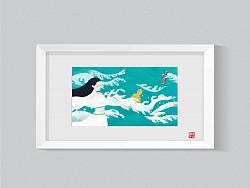 《中国神怪》系列插画作品——白蛇