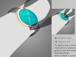 Smart Watch Interaction design concept智能手表交互概念设计