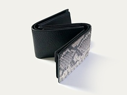 KOUTEN纯手工设计/蟒蛇皮or牛皮多色短钱包定制