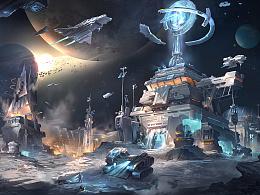 【Crater太空基地】-概念设计过程演示