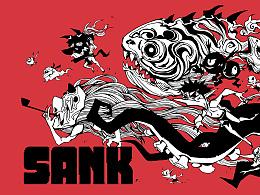 沉下去,到内心最深的地方--SANK(潮牌设计)