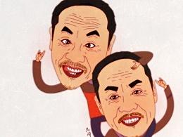 民间小调演员系列肖像漫画之荆现顺