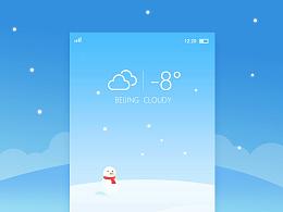 天气APP界面设计