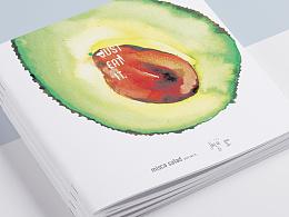 MISCA salad 米司卡沙拉 vi及外送包装 水彩方案