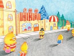 末末的彩铅世界—《宝宝鸭与奇幻魔境》