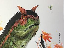 水墨恐龙系列一#侏罗纪世界