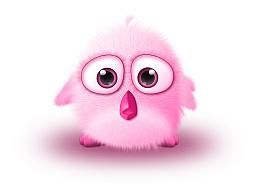 粉红的小鸟