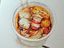 金鱼手绘美食——关东煮