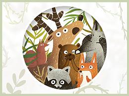 【临摹】森林小动物