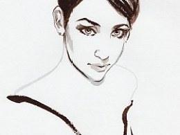 水墨——女性的美丽