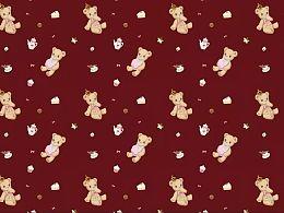 lolita印花 天线猫 甜点熊