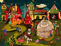 FunFun&Debbie插画系列•圣诞老人の超級工厂