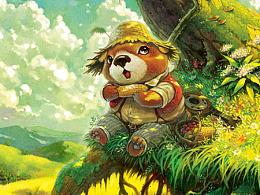 【童画世界 by 雪娃娃】啃包穀的小熊