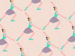 芭蕾,雏菊,手势/重复性图形 by 毘沙门