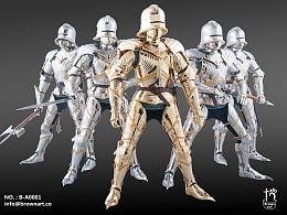 模型1/6哥特式铠甲