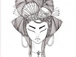 JAMU时尚插画:发丝的艺术(2)