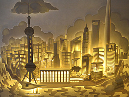 上海城市纸雕