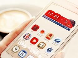 London Love 手机主题设计