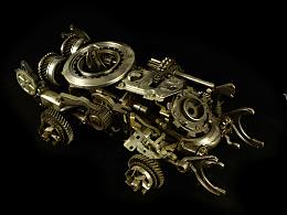 九素(北京)原创机械装置雕塑---机车系列II