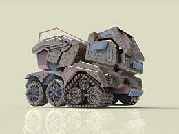 军事装备系列第七款,野外信号干扰战车