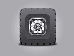 橡胶车轮 轮胎 icon