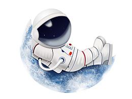 宇航员拟物图标