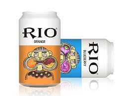 rio鸡尾酒易拉罐包装设计