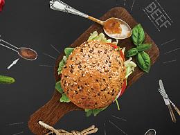 平面食品汉堡包海报