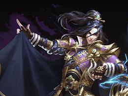 在游戏的推特上找到一部分自己的工作图,游戏叫三国大战Smash