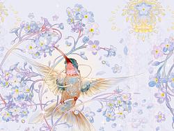 Myosotis sylvatica birds