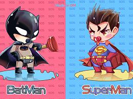 duang!蝙蝠侠大战超人,sai,练习。