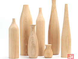 实木花瓶 摄影 拍照