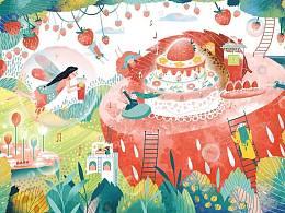 给 奈雪の茶 12月草莓生日季活动图
