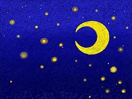 鲸鱼的夜空