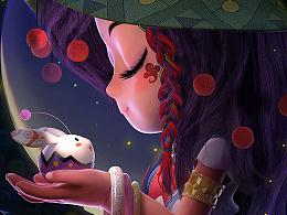 云间美物美宣海报-祈祷少女