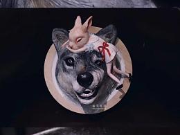 原创手工/粘土作品《兔爱上狼》