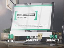 30页欧美商务多用途企业通用精美动画PPT模板