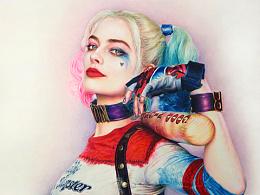 彩铅手绘X特遣队小丑女