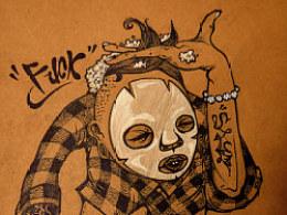 牛皮纸、手绘本