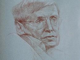 纪念霍金,为他画张像