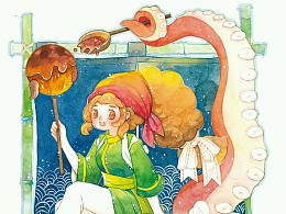 水彩小过程(章鱼烧)