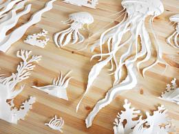 《乐活LOHAS》四月刊美白专题-立体纸艺-海洋