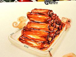 金鱼手绘美食——糖醋排骨