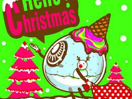 2011moi圣诞小卡——眼珠风雪球(大家都圣诞快乐哈~>3<)