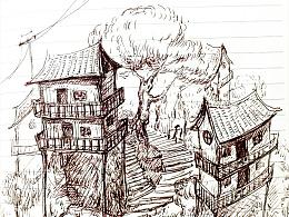2015-中性笔手绘-重庆