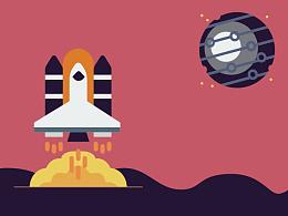 Space travel图标组合