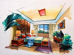 室内手绘作品—马克笔